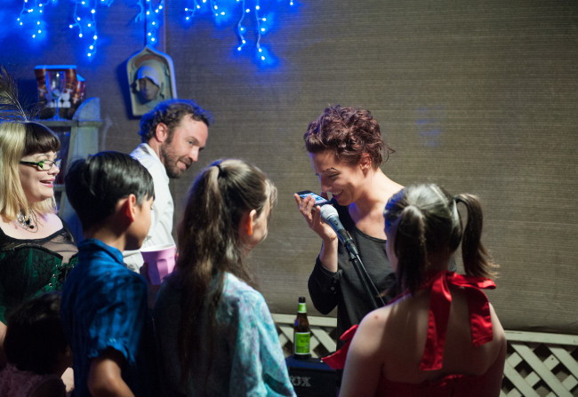 Amanda Palmer and friends in all their glory, live at a house party in Lutwyche