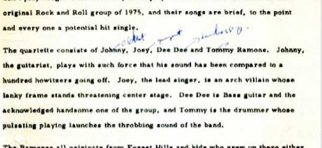 R.I.P. Tommy Ramone 1952-2014