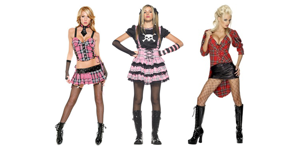 sexy punk dressed girls