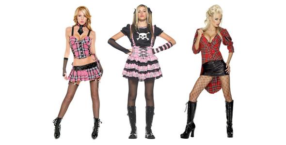 sexy punk dressed girls