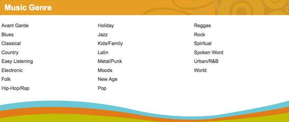 cd baby music genres 2012 screenshot
