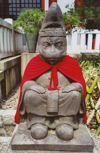 Tokyo monkey statue by Bantosh from Wikipedia