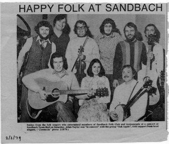 happy folk at Sandbach