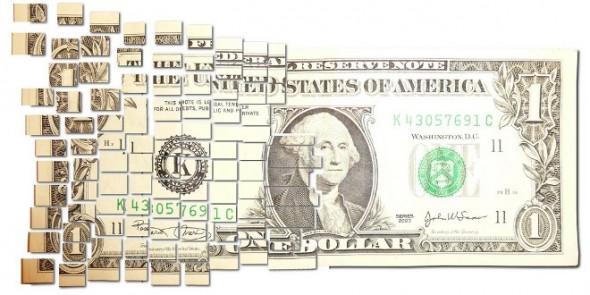 dividing up a dollar bill