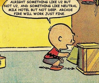 Charlie Brown arcade fire