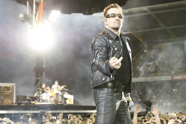 Bono leather trousers