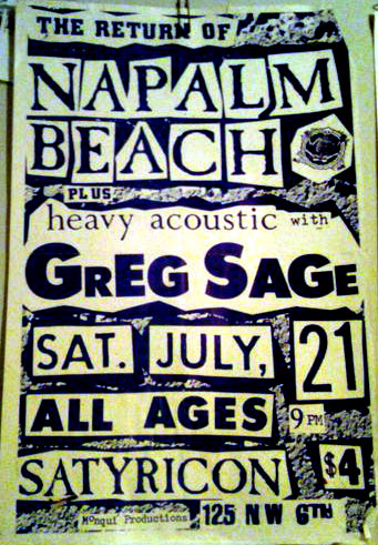 Napalm Beach with Greg Sage