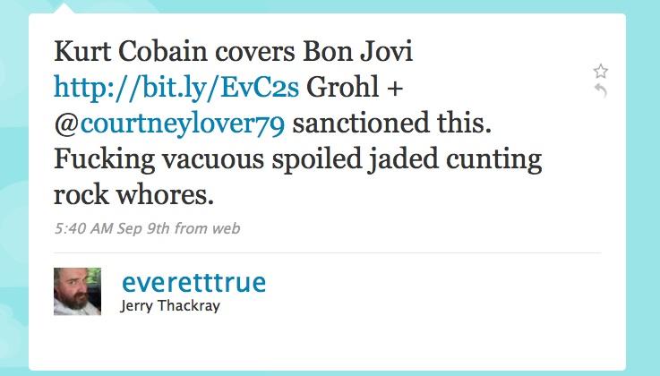 Kurt Cobain covers Bon Jovi