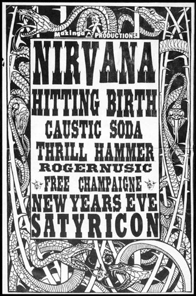 Nirvana at Satyricon New Years 1990/91