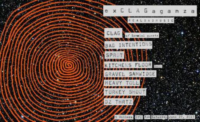 e x C L A G a g a n z a @ Real Bad Music, Moorooka, 22.06.13
